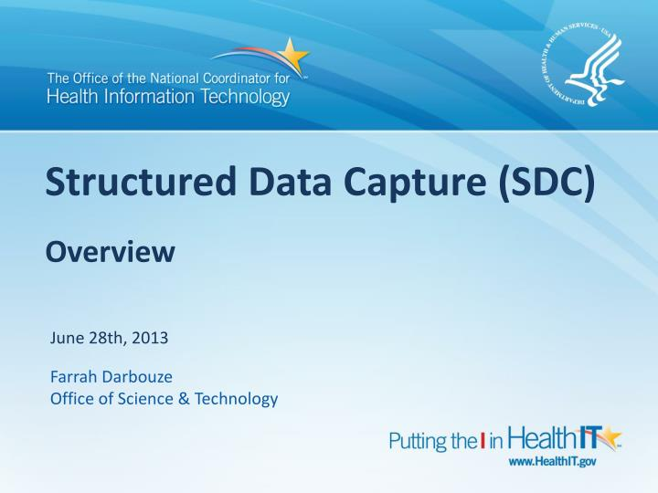 structured data capture sdc overview n.