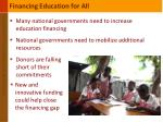 financing education for all