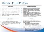 develop fhir profiles