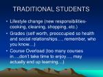 traditional students1