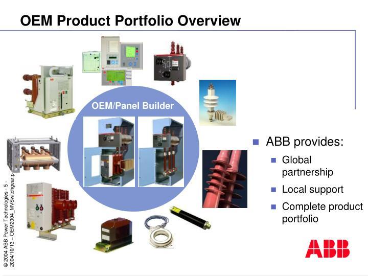 OEM Product Portfolio Overview