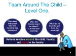 team around the child level one1