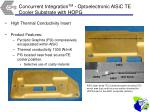 concurrent integration tm optoelectronic alsic te cooler substrate with hopg