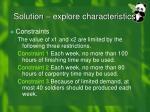 solution explore characteristics3
