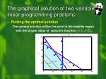 the graphical solution of two variable linear programming problems5