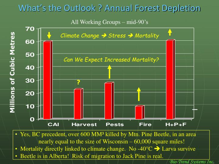 What's the Outlook ? Annual Forest Depletion