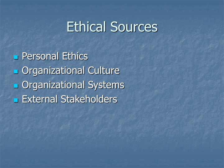 Ethical Sources