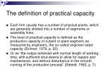 the definition of practical capacity