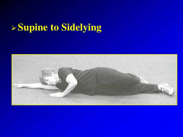 Supine to Sidelying
