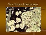 sea floor manganese