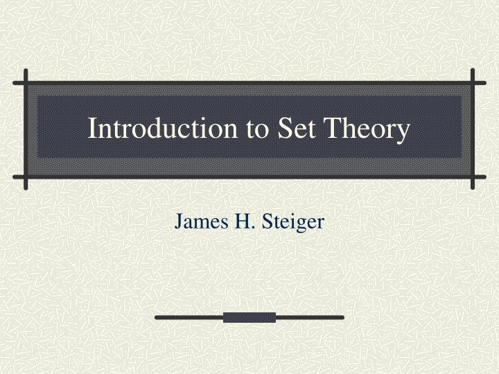 introduction to set theory n.