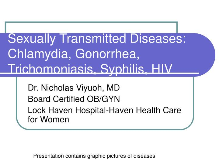 sexually transmitted diseases chlamydia gonorrhea trichomoniasis syphilis hiv n.