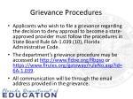grievance procedures