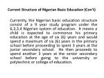 current structure of nigerian basic education con t