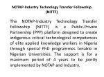 notap industry technology transfer fellowship nittf