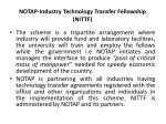 notap industry technology transfer fellowship nittf1