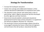strategy for transformation