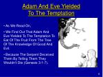 adam and eve yielded to the temptation