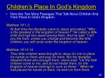 children s place in god s kingdom
