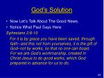 god s solution