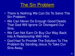 the sin problem