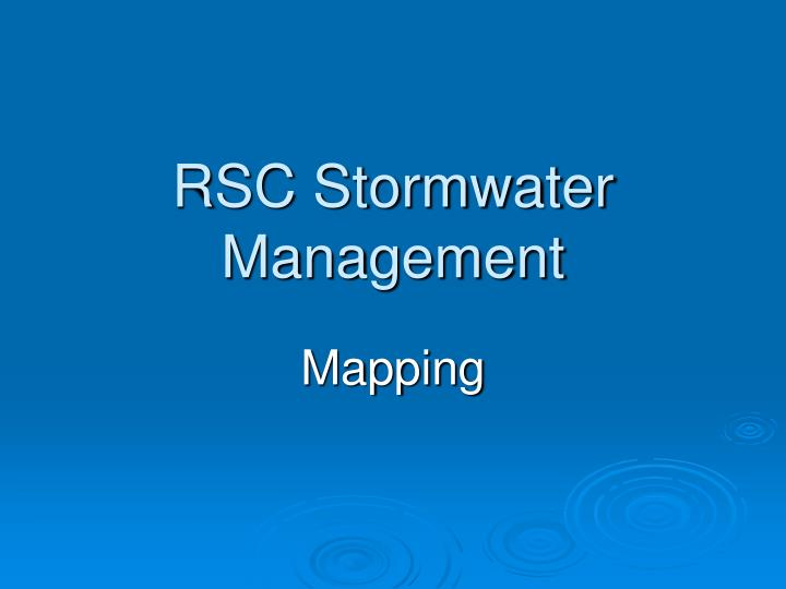 rsc stormwater management n.