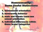 homosexuality some useful distinctions