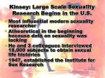 kinsey large scale sexuality research begins in the u s