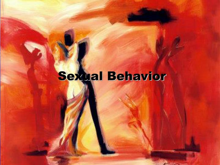sexual behavior n.