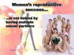 women s reproductive success