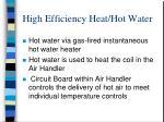 high efficiency heat hot water