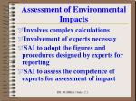 assessment of environmental impacts