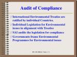 audit of compliance