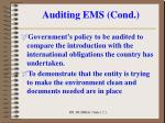 auditing ems cond3