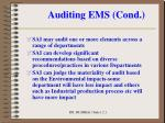 auditing ems cond4
