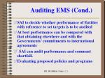 auditing ems cond5
