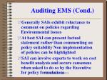 auditing ems cond6