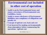 environmental cost included in other cost of operation