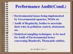 performance audit cond1