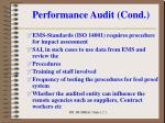 performance audit cond11