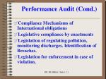 performance audit cond2
