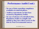 performance audit cond3