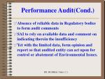 performance audit cond4