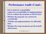 performance audit cond6