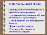 performance audit cond7