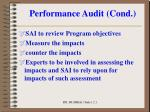 performance audit cond8