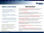 finjan s core values best practices campaign