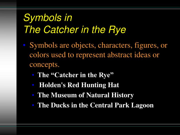 symbolism in the catcher in the