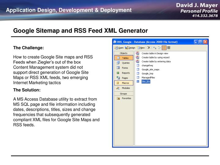 ppt google sitemap and rss feed xml generator powerpoint