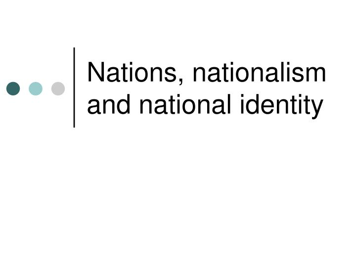 nations nationalism and national identity n.